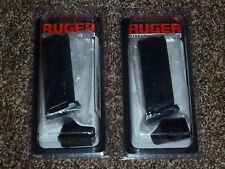 (2)  RUGER SR9C 10 RD FACTORY MAGAZINE CLIPS W/FINGER EXT. 90369 NEW NO RESERVE