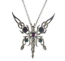 Kalea Solana Fairy Sterling Silver 925 Pendant Necklace Anne Stokes Supernaturel