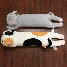 "Long Body Pillow-Tri-Color Cat (L) Tokyo Japanese Lifestyle Exclusive 42"" x 18"""