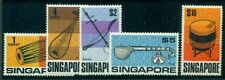 SINGAPORE #107-111 Complete set, Musical Instruments, og, LH, VF, Scott $87.15