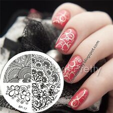 Nagel Schablone BORN PRETTY Nail Art Stamp Stamping Template Plates 17
