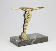 Bronze Art Deco Bird Hood Ornament Made By Wilmot-Breeden Co. Antique 1930's