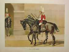 1905 ANTIQUE MILITARY PRINT ~ THE 1st LIFE GUARDS ~ BRITISH IMPERIAL FORCES