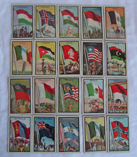TWENTY (20) DIFFERENT 1963 Topps Flags of the World Cards HUNGARY - NORWAY