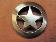 Western Decor Brushed Nickle Star Concho 1 3/4""