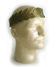 Roman Greek Laurel Leaf Gold Crown Julius Caesar Adult Halloween Costume Hat