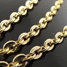 A143 GENUINE REAL 18K YELLOW G/F GOLD SOLID RETRO STYLE PENDANT NECKLACE CHAIN