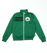Adidas Mens Boston Celtics Full Zip Poly Track Top Jacket in Green - Medium