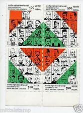 PST 7 INDIA 1985 INDIAN NATIONAL CONGRESS SETENANT MNH