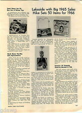 1966 ADVERT Lakeside Toy Stingray Submarine Aquaphibian Terror Fish Reflex