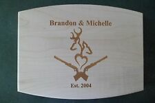 Personalized Maple Cutting Board buck and doe for wedding anniversary gift deer