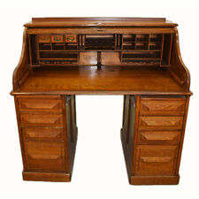 Antique Rolltop Desk, American Oak, Circa 1900 #7376