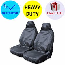 Pair Heavy Duty Waterproof Water Resistant Car Van 4x4 Seat Covers Protectors
