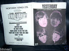 THE BEATLES ORIGINAL OFFICIAL SHEET MUSIC 1965 YESTERDAY Northern Song GREAT