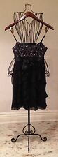 BCBG Max Azria Black Silk 6P Elegant Silk Dress Girl's Ladies Women's Petites