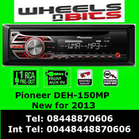 Pioneer DEH-150MP Car Radio CD MP3 Stereo  Front Aux-in Player Red light up 2013