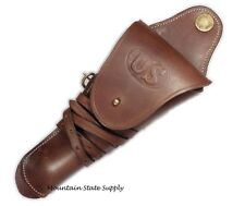 Repro WWI m1912 US Cavalry Colt 45 Auto 1911 m1911 Pistol Leather Swivel Holster