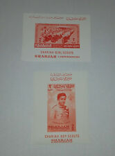 SHARJAH UAE BOY SCOUTS GIRL SCOUTS 1964 SET OF 2 MINISHEET IMPERFORATED