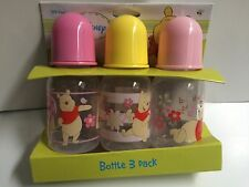 3 (5oz)  Disney Pooh bottles    New!