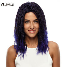 NOBLE Black Purple Ombre Synthetic Dreadlock Wigs Heat Resistant Hair Faux Locs
