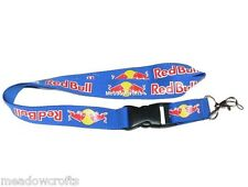 Red Bull Lanyard NEW Light Blue - UK Seller - Car Keyring ID Holder Phone Strap