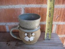 Vintage Art Decor ***FUNNY UGLY FACE 3D*** 1977 Dakota Stoneware Mug USA