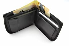 MEN'S WALLET  ZIP AROUND LEATHER CREDIT CARDS HOLDER COIN CHANGE KEY