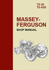 MASSEY FERGUSON TE-20 & TE-A20 TRACTOR WORKSHOP MANUAL