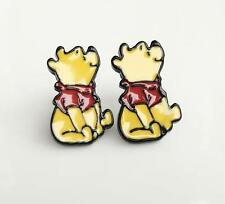 Pooh the winnie sitting metal earring ear stud earrings studs cartoon unisex