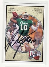 ROBERT GRIFFIN III BAYLOR UNIVERSITY AUTOGRAPHED CARD THRU THE MAIL