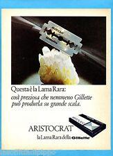 QUATTROR967-PUBBLICITA'/ADVERTISING-1967- GILLETTE ARISTOCRAT - LA LAMA RARA