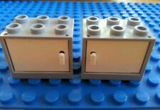 LEGO Bulk Grey Minifig Cabinet x2 Friends Iron Man Olivia House Trees Flowers