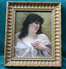 MAGNIFICENT KPM 19 CENTURY GERMAN HAND PAINTING ON PORCELAIN PLAQUE FRAMED