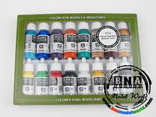 Vallejo #70142 Acrylic Model Color Paint Set - Medieval Colours (16 x 17ml)