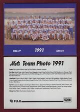 1991 New York Mets 7x5-inch Team Photo/1992 Fugi & WIZ home entertainment center