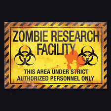 NEMESIS NOW ZOMBIE RESEARCH FACILITY SIGN. HALLOWEEN HAUNTED HOUSE. UNDEAD