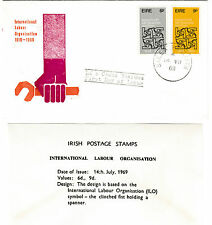 IRELAND, Scott #272-273 on Illustrated Unaddressed FDC, Issued 7/14/69