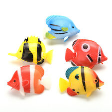 2PCS Artificial Tropical Fish Floating Moveable Aquarium Fish Tank  Toy  New