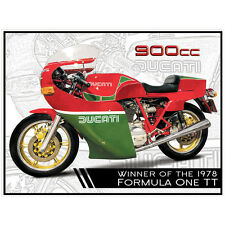 Ducati 900cc Mike Hailwood 78 TT Tinplate Metal Plaque Wall Art Sign