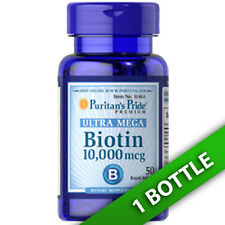 Ultra Mega Biotin 10,000mcg 50 Softgels (d-Biotin) by Puritan's Pirde