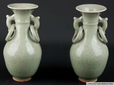 Cina 20. JH. vasi-a pair of Chinese celadon club-shaped vases chinois cinese