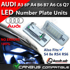 x2 Audi A3 8P A4 S4 B6 8E RS4 B7 A6 C6 RS6 Q7 LED License Number Plate Light