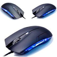 Game Mouse with 6 Keys Blue Optical Laser Wired Computer Mouse Gaming Mouse NEW!