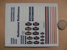 decals decalcomanie  divers rothmans lettrage majuscule etc 1/43