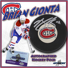 """BRIAN GIONTA Signed MONTREAL CANADIENS Puck w/COA """"NEW"""""""