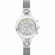 ** NEW ** Emporio Armani® watch AR7389 Ladie`s White Chronograph Mother Of Pearl