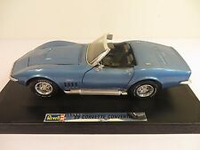 Revell 1969 Chevy Corvette Stingray Convertible Blue 1/18 Scale Very Rare #8691