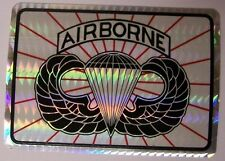 Window Bumper Sticker Military Army Airborne Jump Wings NEW Prismatic #2