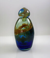 Art Studio Glass SIgned Deeble Bottle with Stopper Cobalt