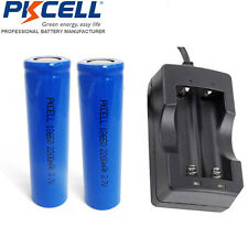 2pcs 18650 Rechargeable Vape Mod Battery 2200mAh + 18650 Dual Liion Charger USA